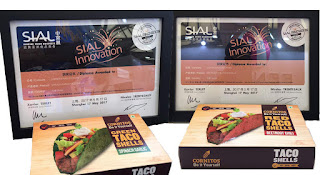 Cornitos Flavored Taco Shells- Spinach Garlic and Beetroot Chili accolades with SIAL China Innovation Awards 2017The flagship brand of Greendot Health Foods Pvt Ltd, Cornitos recently launched product 'Spinach Garlic and Beetroot Chili Taco Shells' has been awarded Diploma Certification by the prestigious SIAL China
