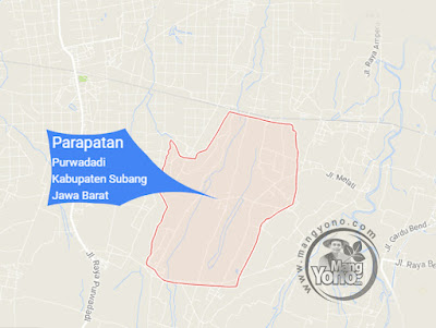 PETA : Desa Parapatan, Kecamatan Purwadadi