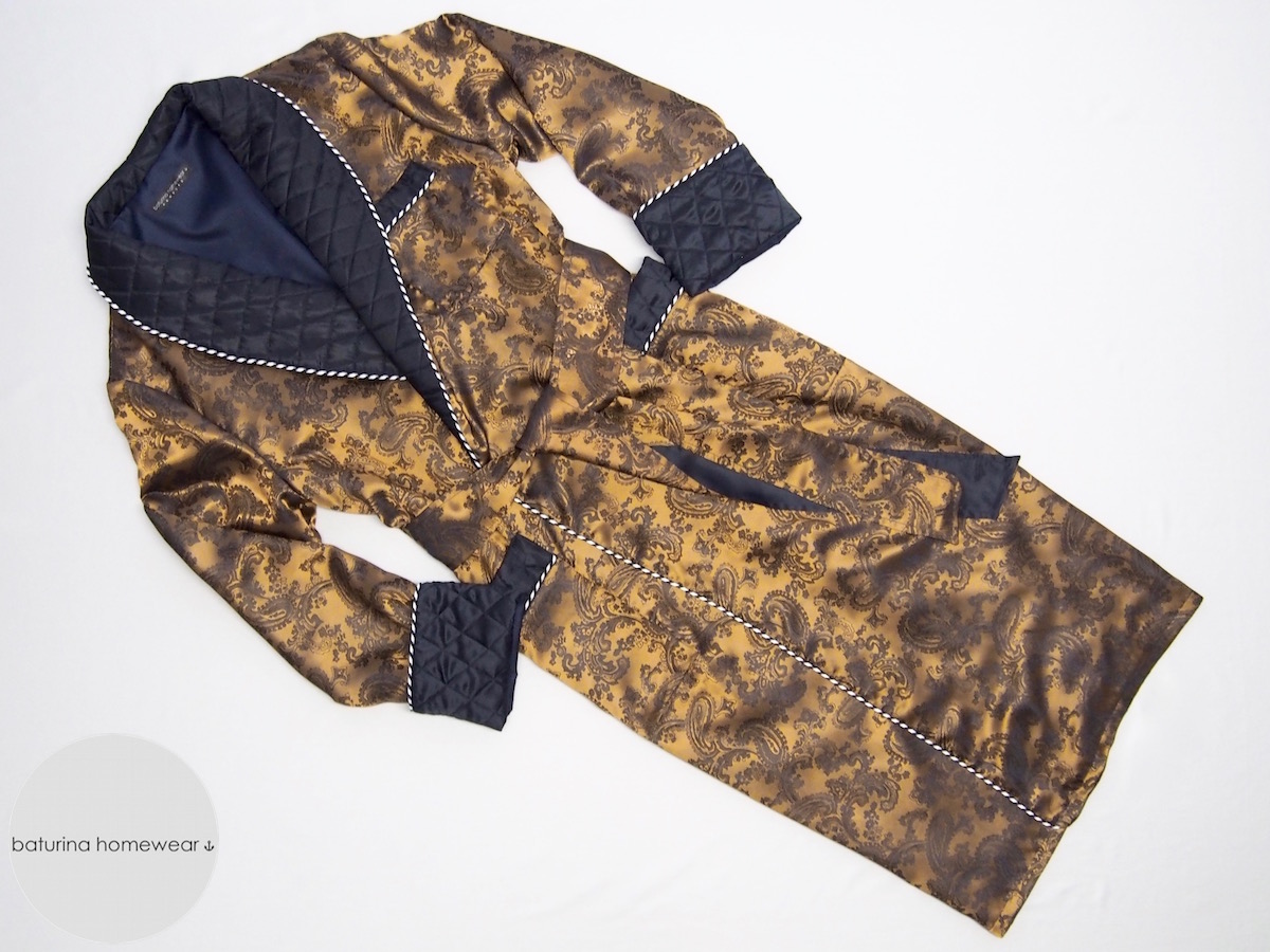 Men's Luxury Dressing Gown Collection : quilted dressing gown - Adamdwight.com