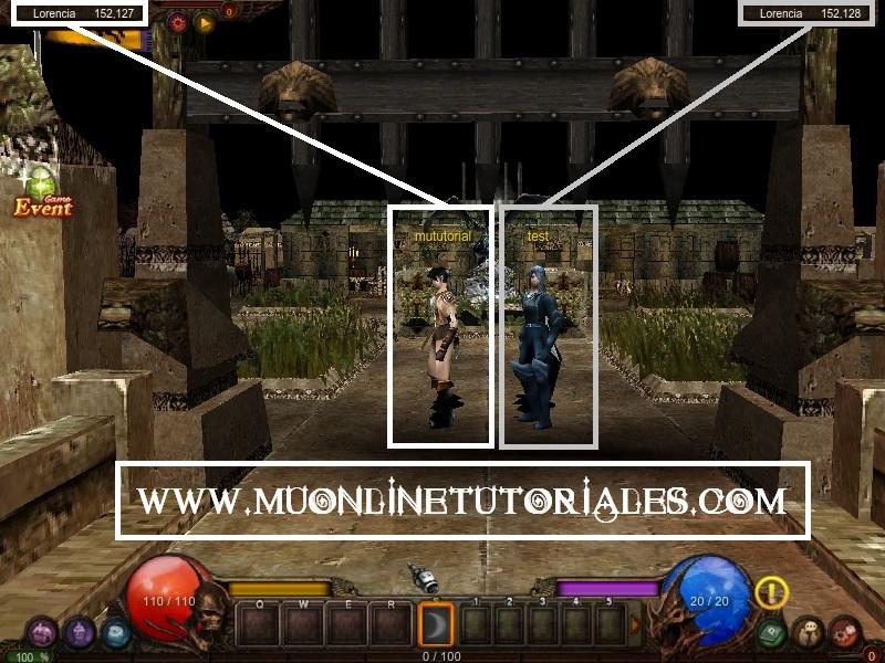 Visualizando la posicion de los personajes dentro del juego