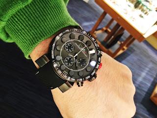 イタリア時計 ブラック