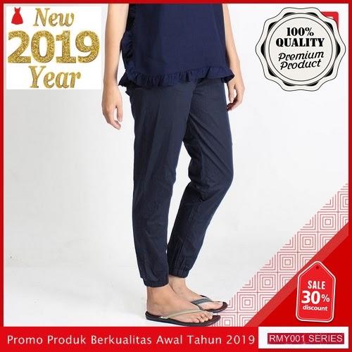 RMY043J42 Jeje Jeans Celana Jogger Keren Reguler Navy BMGShop
