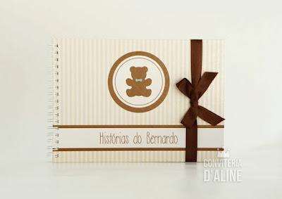 ursinho caderno personalizado maternidade
