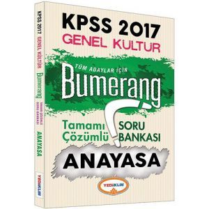 Yediiklim KPSS Anayasa Bumerang Tamamı Çözümlü Soru Bankası 2017