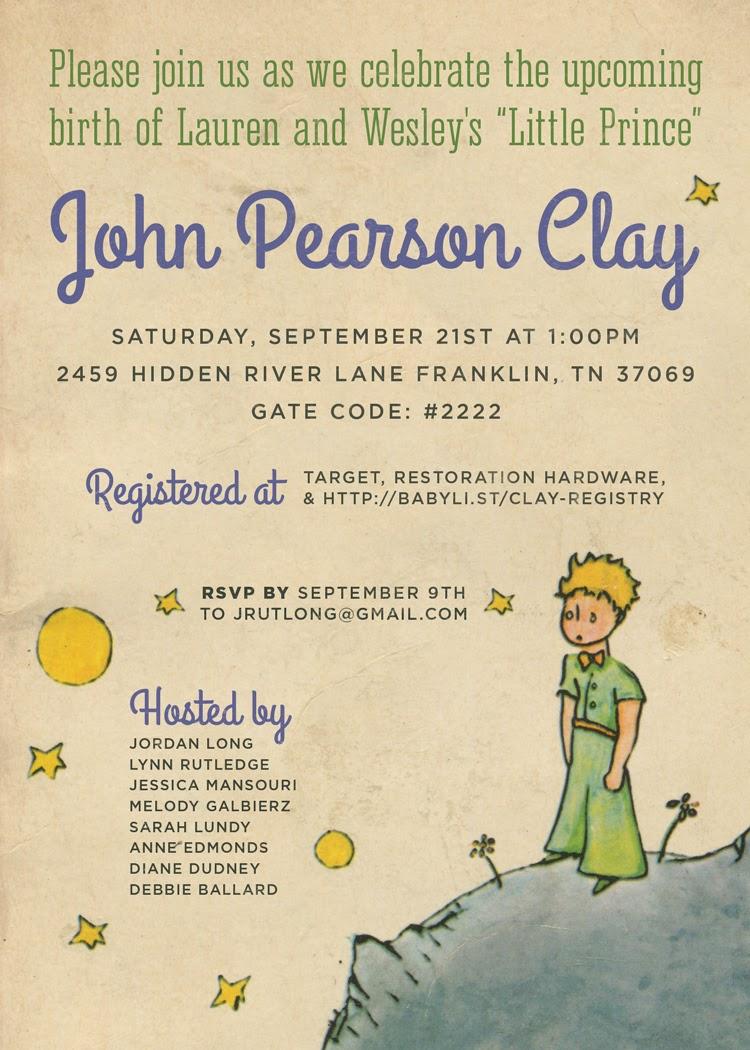 John Pearson Le Petit Prince Souvenir