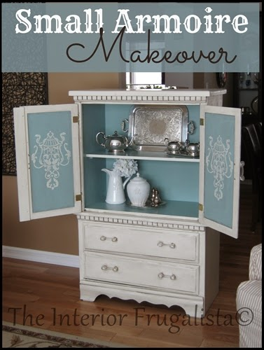 Small Vintage Hutch Armoire Makeover