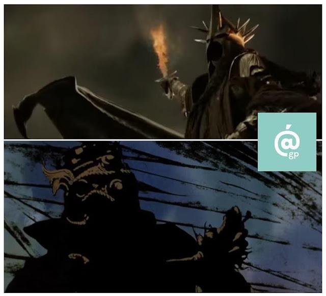 Rey brujo de Angmar - Señor de los Nazgul - El Señor de los Anillos: Peter Jackson Vs Ralph Bakshi - JRRTolkien - ÁlvaroGP - el fancine - el troblogdita