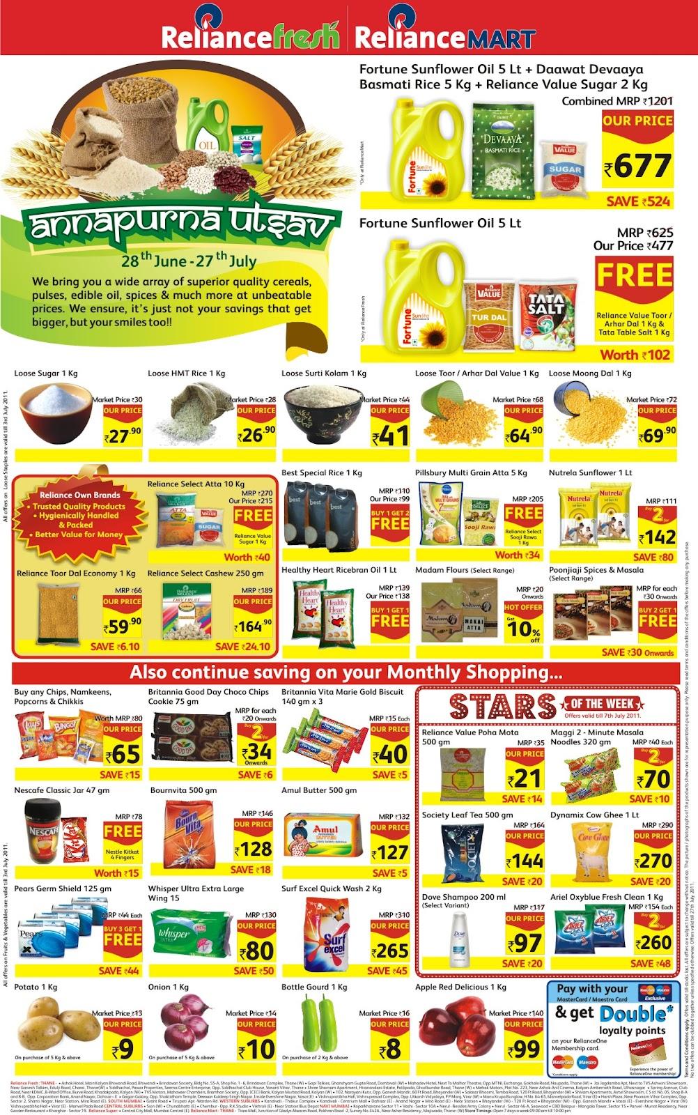 Copywriter: Reliance Fresh, Reliance Mart, Reliance Super