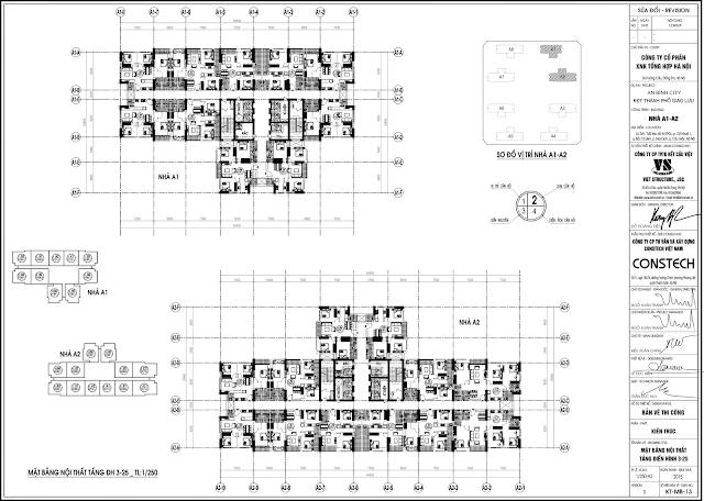mặt bằng điển hình tòa A1 - A2 An Bình City
