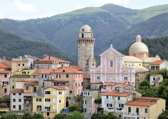 Italian Hill Town of Ortonovo in Liguria near the Tuscan border