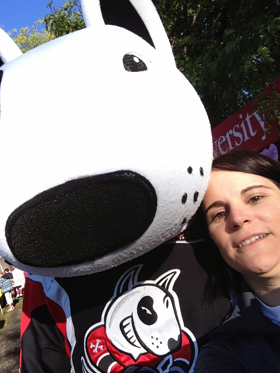 photo of me and Bones, the Niagara IceDogs Mascot