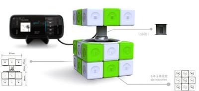 Charger Rubik's Cube Unik