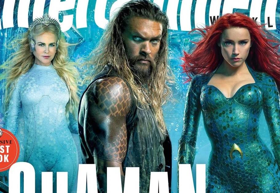 """Imagens inéditas de """"Aquaman"""" apresentam Arthur Curry e Arraia Negra"""
