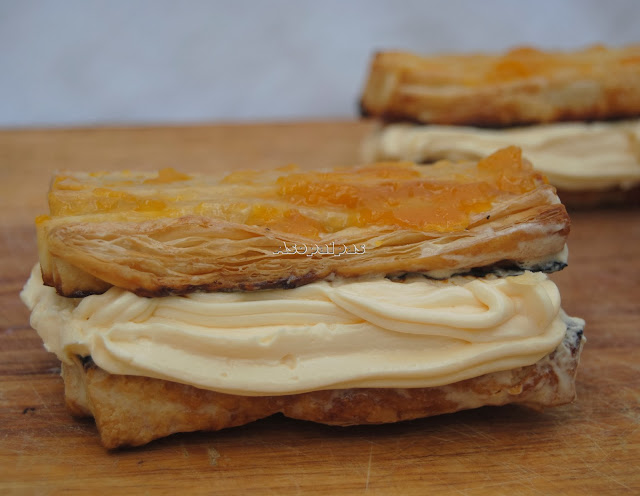 Madrileños Hojaldre con Crema de Mantequilla