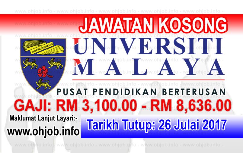 Jawatan Kerja Kosong Universiti Malaya - UMCCed logo www.ohjob.info julai 2017