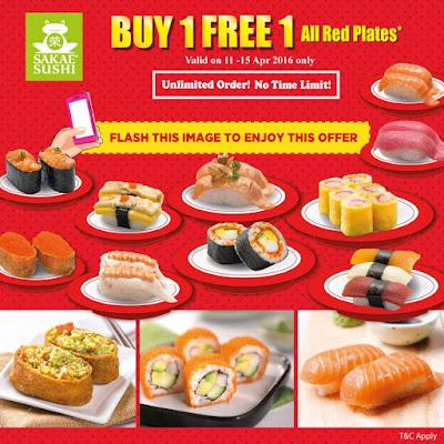Sakae Sushi Malaysia Buy 1 Free 1 Red Plates