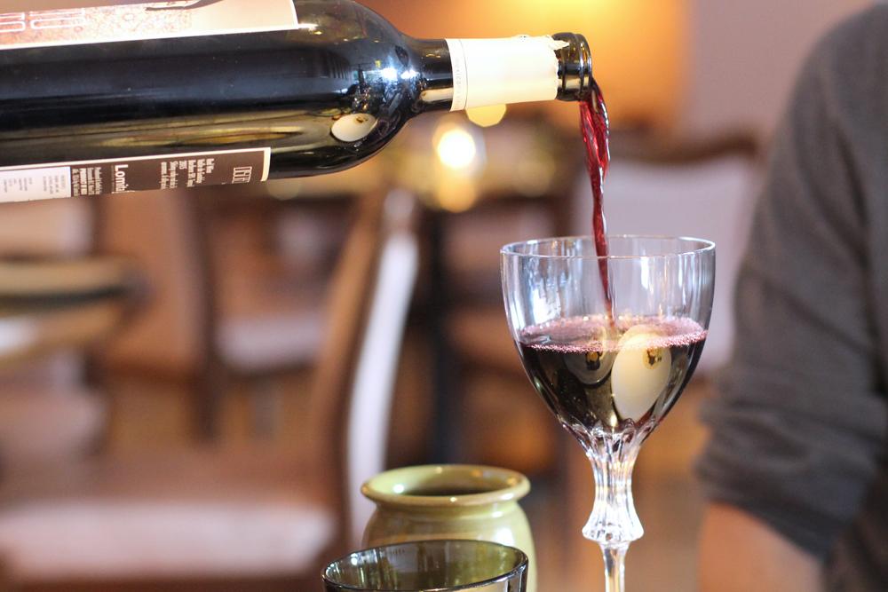 Red wine at Mexican Restaurant Ella Canta at Park Lane Intercontinental, London - UK lifestyle blog