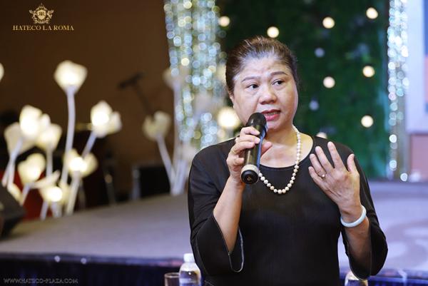 Bà Trần Thị Lệ Nga - Phó chủ tịch của công ty Hateco Thăng Long
