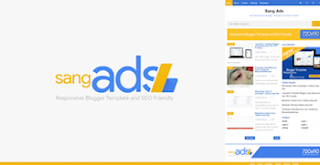 Sang Ads Responsive dan SEO Friendly Blogger Template