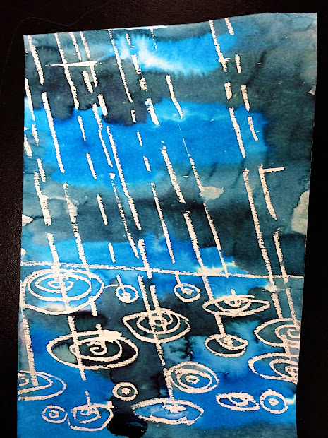 Watercolor Rain Art Project