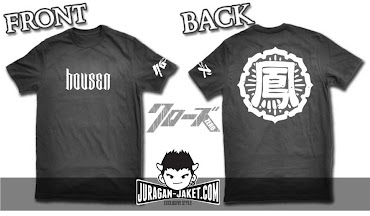 jas exclusive t shirt crows zero  housen (h 1) 95k