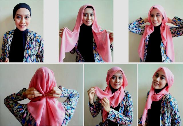 30 Gambar Lengkap Tutorial Hijab Paris Kekinian Tahun Ini