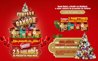 """""""Meu presente de Natal - Nestlé Panettones"""" Blog topdapromocao.com.br"""