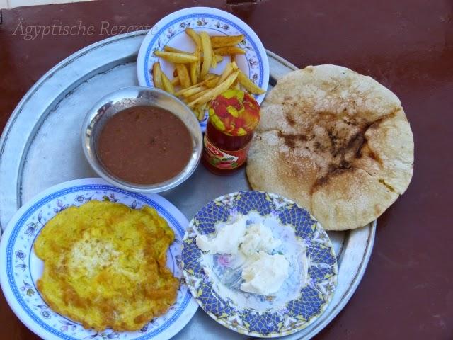 Ägyptisches Baladi Frühstück