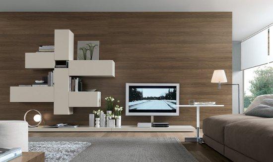 Bricolage e decora o salas modernas com paredes de madeira for Paredes de salas modernas