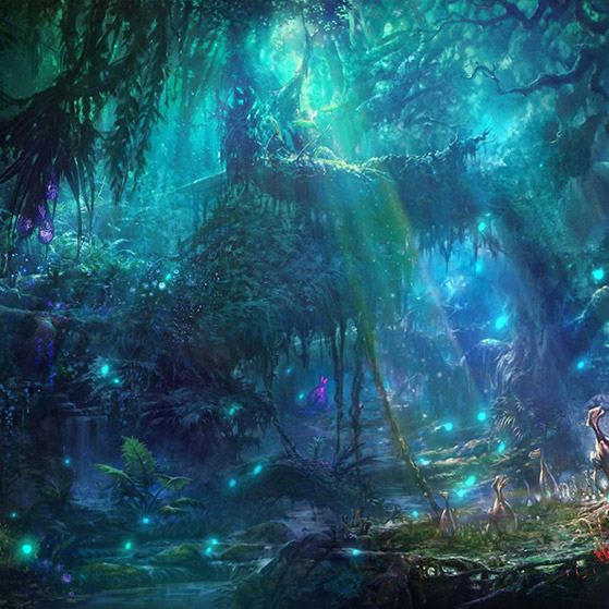 Blue Forest Wallpaper Engine