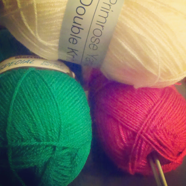 5pm - Christmas coloured wool