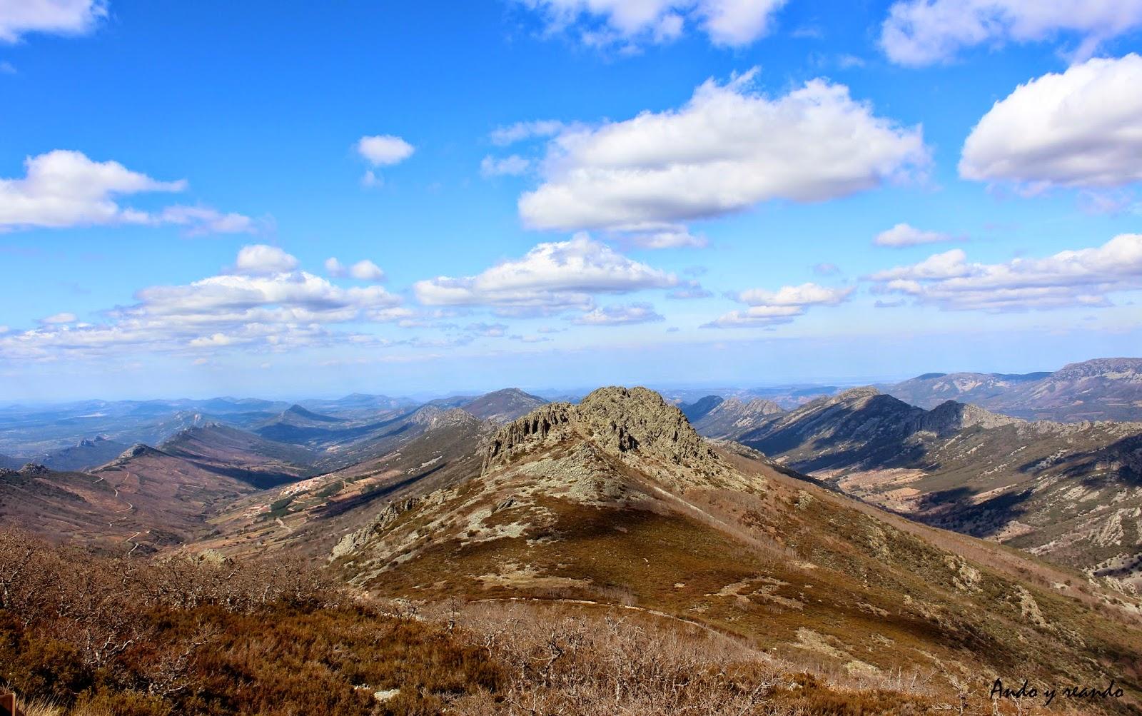Sinclinales y anticlinales en la comarca de las Villuercas