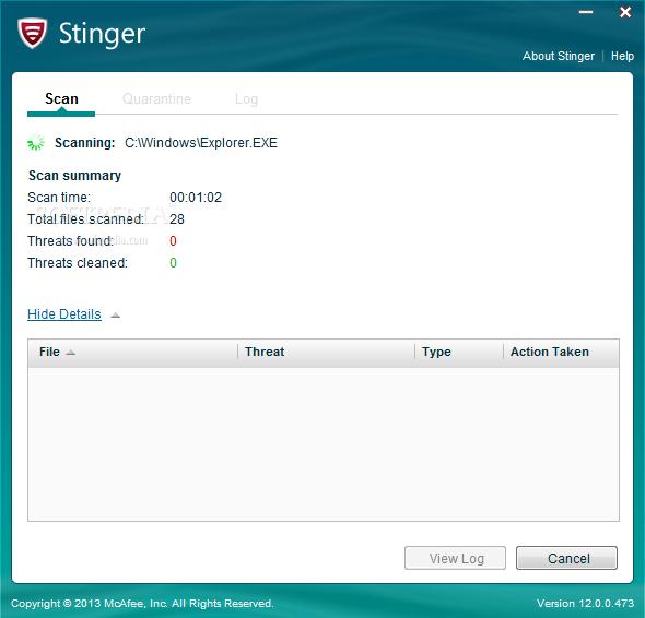 تحميل مكافي ستينغر الاصدار الاخير مجانا mcafee stinger
