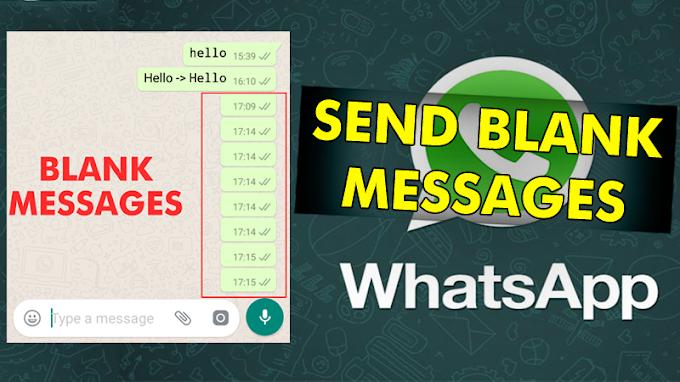 Begini Trik Mengirim Pesan Kosong Di WhatsApp