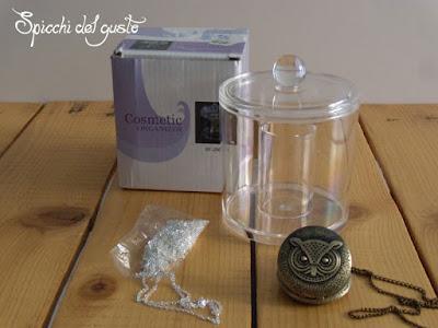 contenitore acrilico per cosmetici