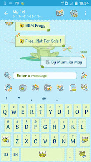 BBM Mod Froggy v 3.0.1.25 APK Terbaru