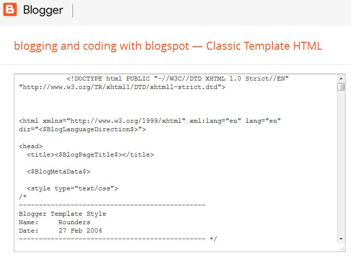 The Downside Of Classic Blogger Template Blogger Begins