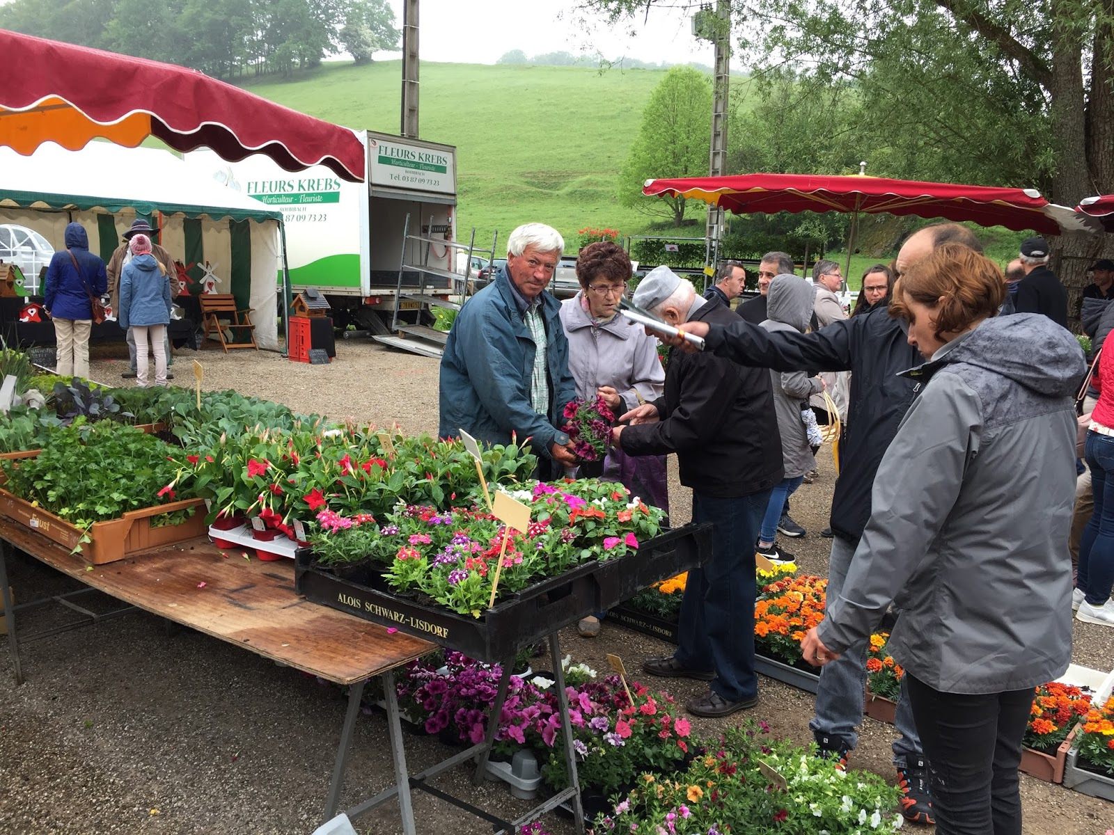 Volmunster Info Affluence au marché aux fleurs au moulin d