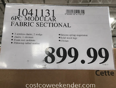 Costco 1041131 - Deal for the 6-piece Modular Fabric Sectional at Costco