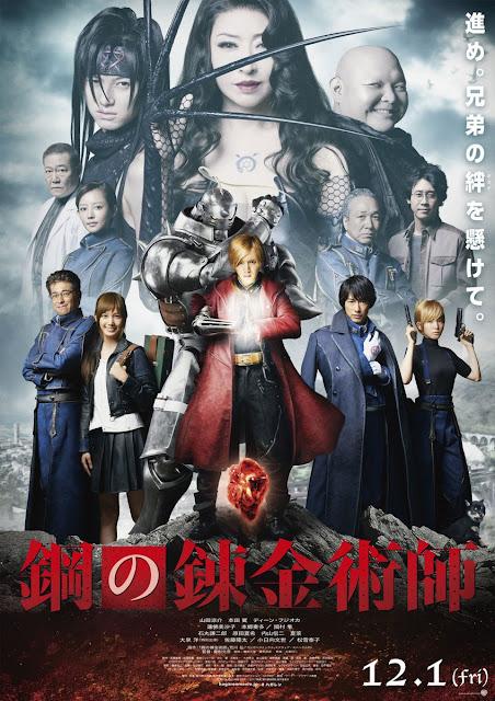 "Nuevo póster del live action de ""Fullmetal Alchemist""."