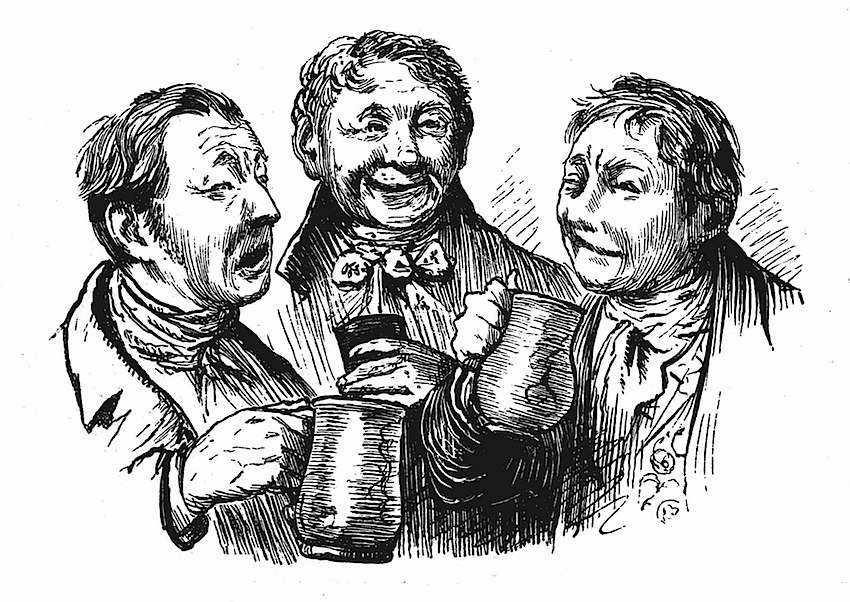 Randolph Caldecott, three singing drunks