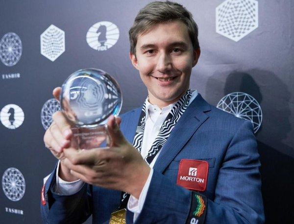 Sergey Karjakin vainqueur du tournoi d'échecs des candidats - Photo © Chess & Strategy