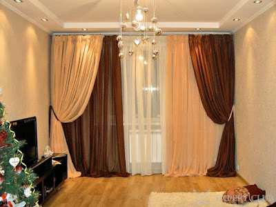 beautiful two shaded curtains for two windows next to each other for window treatment