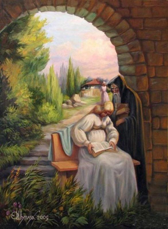 Moça e Ancião - Oleg Shuplyak - Incríveis ilusões