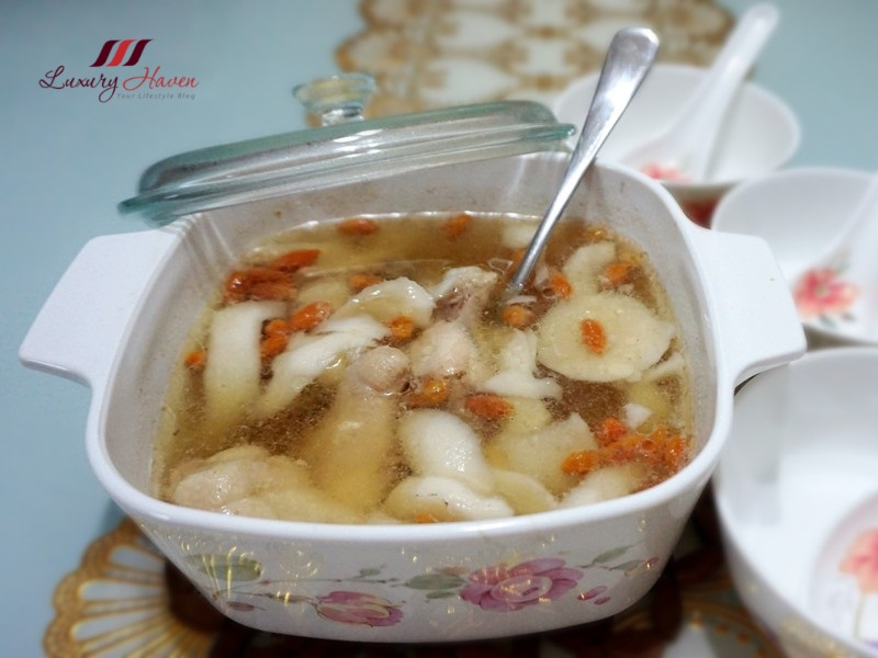 refreshing coconut soup with chicken goji berries recipes