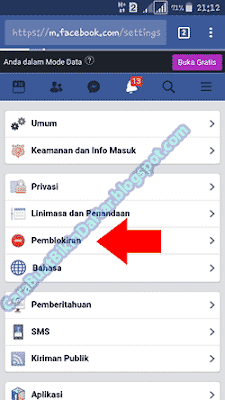 Cara memblokir FB orang lain agar tidak bisa di buka