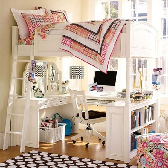 Girls Loft Bed With Desk