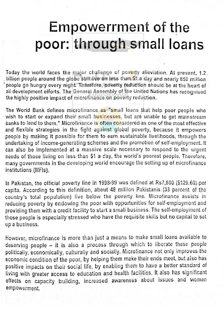 Empowerment of Poor English Essay Read and Download