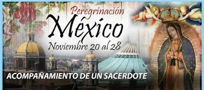 BASÍLICA DE NUESTRA SEÑORA DE GUADALUPE  Del 20 al 28 de Noviembre del 2017