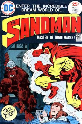 The Sandman v1 #3 dc bronze age comic book cover art by Jack Kirby